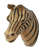 Brand New Amalfi Grevy Wall Sculpture Zebra Black and Natural Hessian 25 x 28 cm