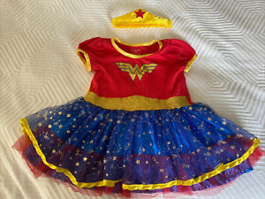 Toddler Wonder Woman Dress/Costume/Pajamas With Cape And Headband, 2T
