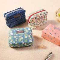 Travel Cosmetic Toiletry Case Wash Organizer Makeup Pouch Floral Bag Organizer