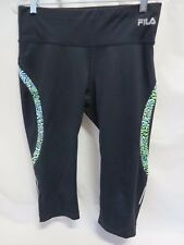 Fila Sport Performance Running Capri Pants Black Size M #6222