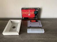 Final Fantasy II 2 Super Nintendo SNES Game Cartridge With Original Box And Tray