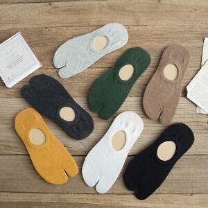 AB_ 1Pair Men Comfort Japanese Flip Flop Sandal Split Toe Tabi Low Cut Socks New