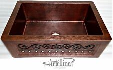 Ariellina Farmhouse 14 Gauge Copper Kitchen Sink Lifetime Warranty New AC1822 VC