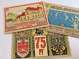 NORDHAUSEN 1921 Notgeld 10, 25, 50 Pfennigs (Complete Set) ****UNCIRCULATED****