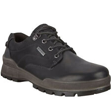 Ecco Mens Track 25 Leather Lace Up Casual Smart GTX Waterproof Shoes - Black