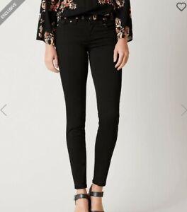 Miss Me sz 26 Signature Skinny Jeans black moto look JE8822S4R buckle exclusive