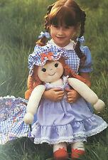 SEWING PATTERN Jean Greenhowe Jennifer Rag Doll Toy Large 61cm RARE