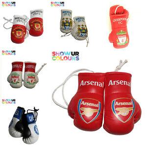 Football teams mini boxing gloves Gunners/Man u/City/Chel/Kop white/Kop red