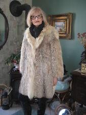 #A96 WOMEN  must have it sweet montana lynx fur coat size 8/9