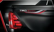 GENUINE TOYOTA HILUX REVO 2015 TRD BODY STICKER TAPE STRIPE WHITE SET OF2