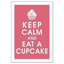 Keep Calm and Eat a Cupcake Kitchen Home Baking Quality Fridge Magnet