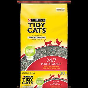 Purina Tidy Cats Non Clumping Cat Litter, 24/7 Performance Multi Cat Litter, 30