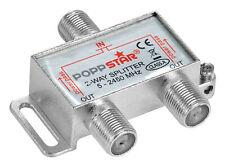 Poppstar Sat-Verteiler 2-fach (analog / digital-tauglich), 100dB, 5-2450 MHz