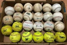 29 Used Softballs Official League Softball, A.D.Starr Worth, Gold Dot, Spirit