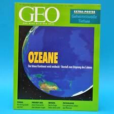 GEO Magazin 11/1999 Ozeane Projekt Ara Rumänien Tonga Nevada Pflanzen-Physiol.