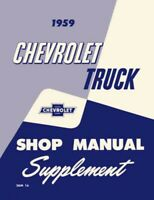 1959 Chevrolet Truck Shop Service Repair Manual Engine Drivetrain Electrical OEM