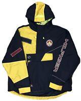 Vintage Tommy Hilfiger Color Block Patch Sailing Gear Hoodie Jacket Windbreaker