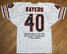 GALE SAYERS Autographed Signed Embroidered 1965 ROY White Bears Jersey UDA LE 40