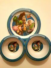 Disney Pixar's Toy Story/Buzz,Woody, Melamine/Plastic trudeau  plate and bowls