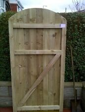 arch top gate, garden gate, timber gate  NO RESERVE