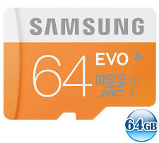 SAMSUNG CLASS10 microSDXC EVO 64GB 64G micro SD micro SDXC Memory Card 48MB/s*