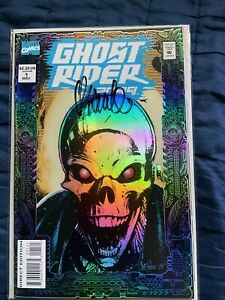GHOST RIDER 2099 KEY MARVEL COMICS Signed By CHRIS BACHALO FOIL COVER & ART