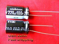 25pc  220uF 100V Nichicon electrolytic capacitor