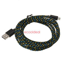 3M 10FT Braided Nylon Micro USB Charger Sync Data Charging Cable Cord for Phone