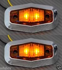 2 x LED Côté ORANGE FEUX DE POSITION camion utilitaire bus renault iveco chrome