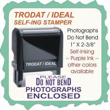Photos Do Not Bend, Medium Size, Trodat / Ideal Self Ink Stamp 4914 Purple Ink