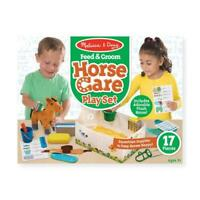 Melissa and Doug Horse Care Play Set Feed & Groom Kids Child Toy Animal 3+ Years