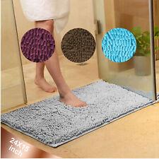 Soft Microfiber Shaggy Non Slip Bath Mat Absorbent Bathroom Shower Rugs Carpet
