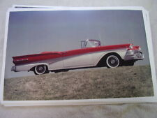 1958 FORD FAIRLANE CONVERTIBLE    COLOR 11 X 17  PHOTO  PICTURE