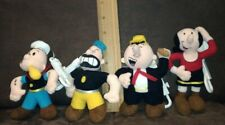 Set of 4 Popeye characters Plush 1999 Stuffins with key clip