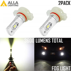 Alla Lighting PSX24W 2504 LED Driving Fog Light|DRL Bulb 6000K Bright White VS