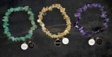 Custom Made Zodiac Horoscope Crystal Chip Stretch Bracelets Supercharged Reiki!