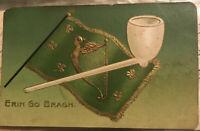 1909 Irish Erin Antique Postcard World Fair Stamp Seattle WA Coplen Spokane WA