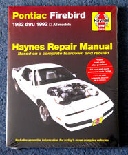 Pontiac Firebird 1982 to 1992 Haynes Manual 3rd Gen All models incl. Trans Am