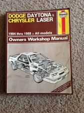 1984-1988 Haynes Publications Repair Manual Dodge Daytona & Chrysler Laser #1140