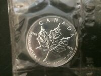 1999 Canada $5 1oz Silver Maple Leaf Bullion Coin .9999 Fine BU dollar round