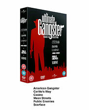 ULTIMATE GANGSTER MOVIE COLLECTION DVD BOX SET 6 FILM SCARFACE CASINO MEAN STREE