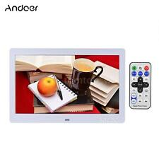 """Andoer 10"""" HD LCD Digital Photo Picture Frame Clock MP3 MP4 Video Player NG J2T4"""