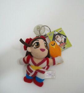 """Samurai Spirits Shodown Nakoruru Banpresto 1996 SNK Mascot Plush 3.5"""" TAG Japan"""
