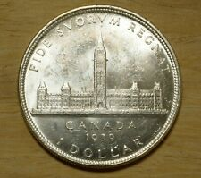 1939 CANADA Silver Dollar King George VI Coin Nice BRILLIANT UNCIRCULATED KM 38