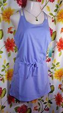 YOGA LIFESTYLE Periwinkle Blue Cool Comfort Sun Dress Swim Cover Large NWT $40