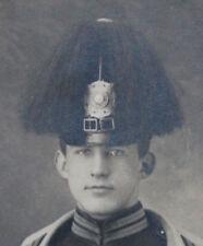 Altes Portrait Kabinett Foto Gardeschützen Regiment mit Tschako und Busch