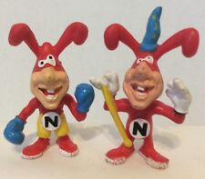 Dominos Pizza Lot Of 2 Vintage NOID PVC Figures Boxer Wizard Advertising Rare