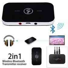 2 en 1 Inalámbrico Bluetooth Transmisor Receptor Adaptador Música HIFI Audio AUX