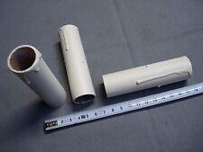 fausse bougie fourreau 24 mm x 100 mm gouttes blanc antique (réf L100) carton