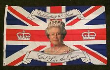 Queen's 90th Birthday Flag 5x3 Monarchy Elizabeth II Party British Union Jack bn